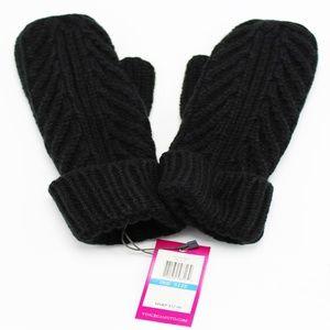 Diagonal Rib Knit Mittens Gloves Vince Camuto
